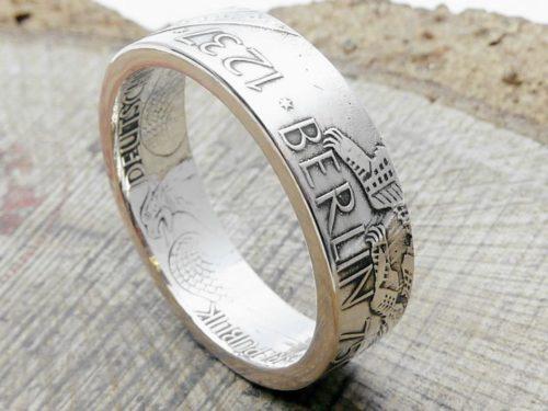 625er Silberring aus 10 DM Münze, BERLIN , personalisierbar