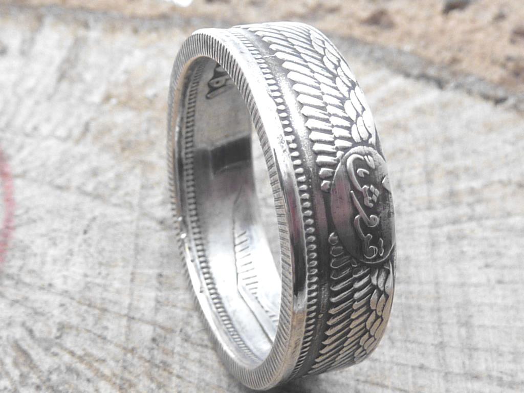 800er Silberring, Ägypten 10 Piastres / personalisierbar