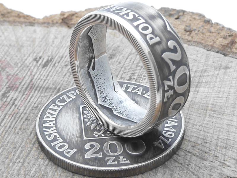 925er Münzring, aus 200 Zloty (Polen) / personalisierbar