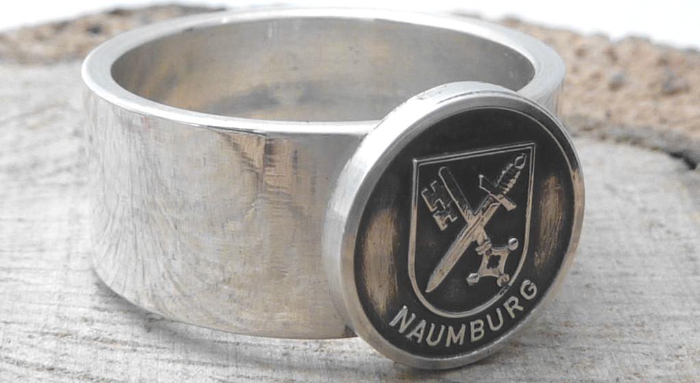 925er Silberring, mit Stadtwappen von Naumburg / personalisierbar