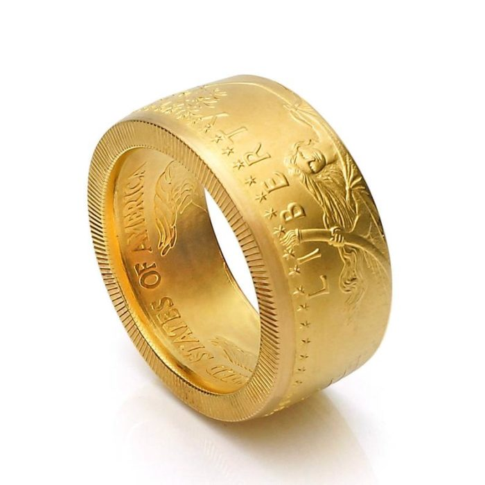 Goldring (91,66% Feingoldanteil) aus 1 oz. American Eagle Münze / personalisierbar