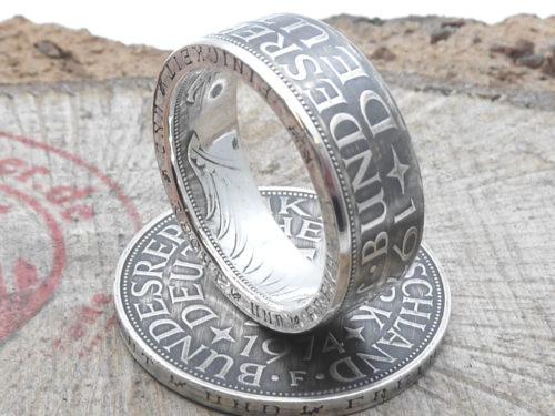Münzring 5 Mark Silber Heiermann Silberadler mit Wunschjahrgang & Prägestätte / personalisierbar