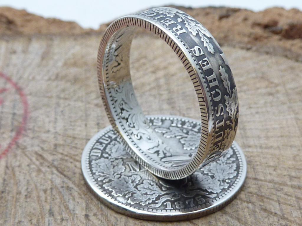 Münzring aus 1 Mark Silbermünze Kaiserzeit