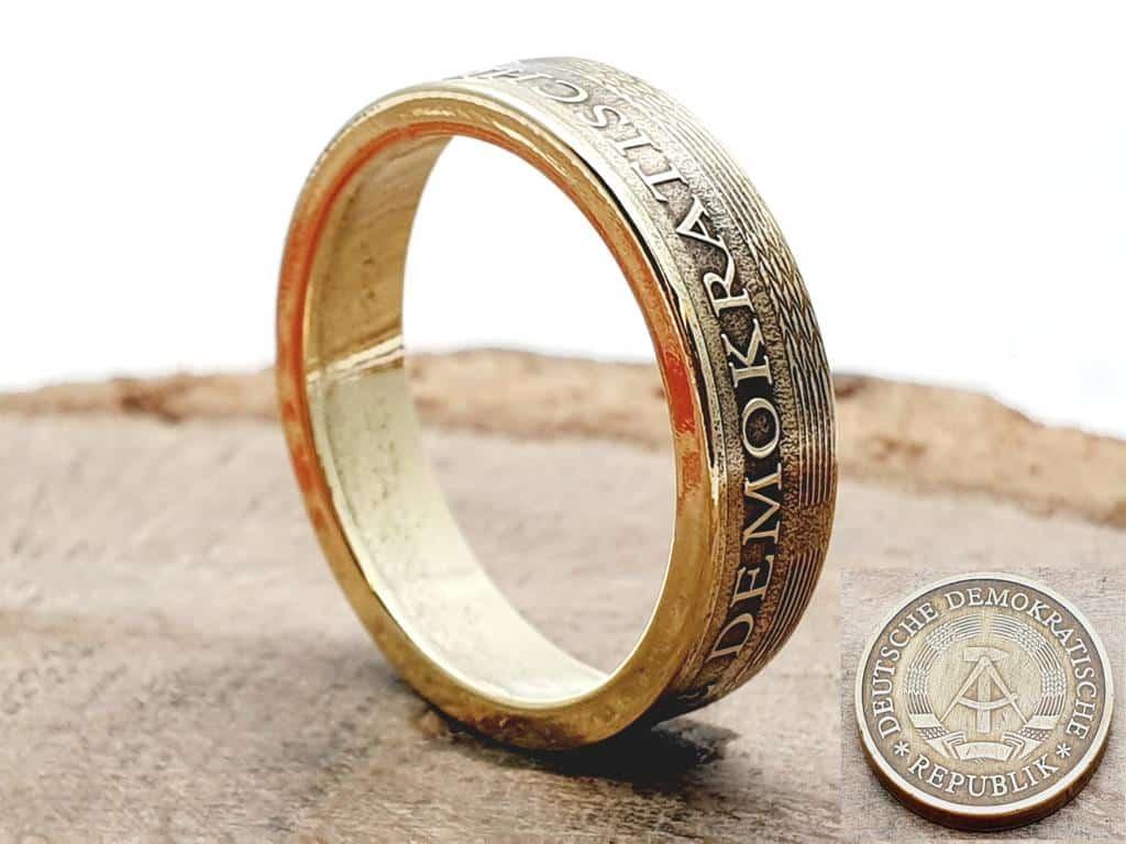 Münzring aus 20 Pfennig Münze DDR