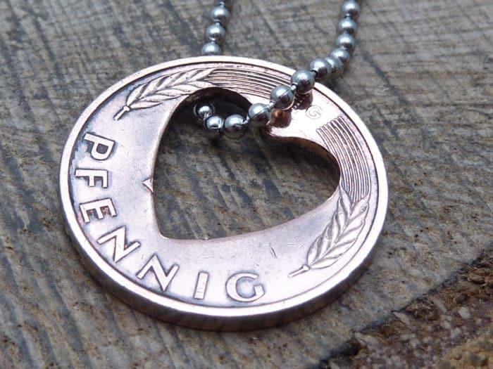 Glücksbringer-Kette aus Pfennig Münze