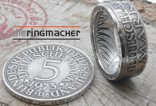 Silberring, aus 5 DM Silbermünze/ mit Wunschprägejahr/ personalisierbar 79,00 €