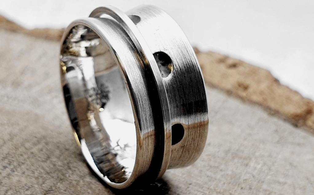 925er Silberring, Drehring / personalisierbar