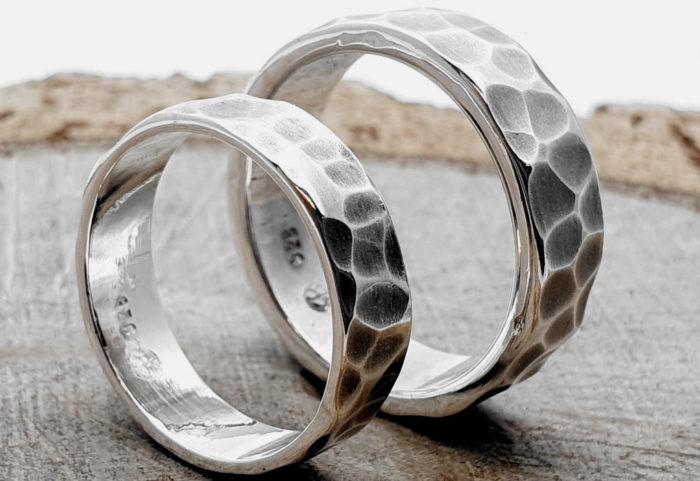 925er Silberringe, Partner/Eheringe / personalisierbar