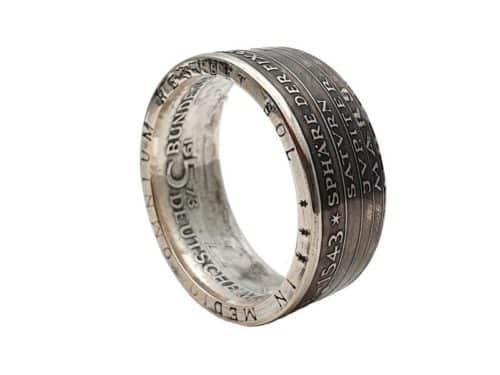 Münzring aus 5 DM Münze Kopernikus personalisierbar