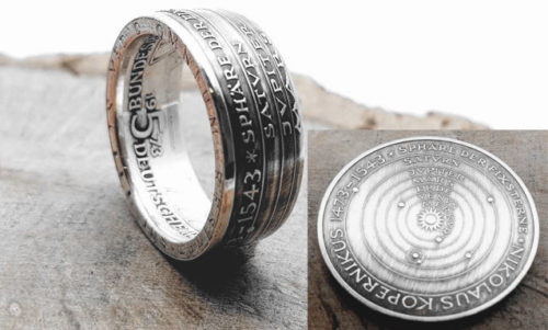 Münzring aus 5DM Münze/ 1973 Kopernikus / personalisierbar