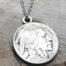 925er Silberkette mit Anhänger aus 5 Cent Münze (USA)