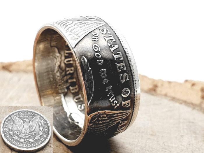 Münzring, Morgan Dollar USA 900er Silber