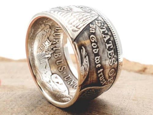 Münzring aus 1 Morgan Dollar USA 900er Silber