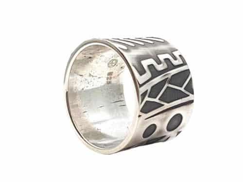 925er Silberring mit Prägung personalisierbar