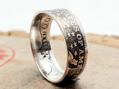 Münzring aus Quarter Dollar Silbermünze – USA